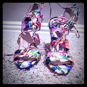 High heels sandals.